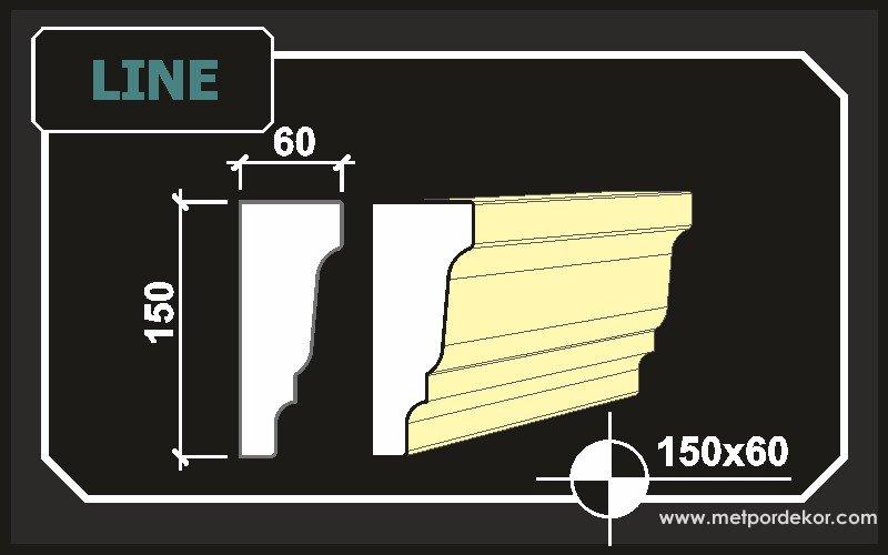 Line Dış Cephe Pencere Kenarı Söve 15 cm x 6 cm