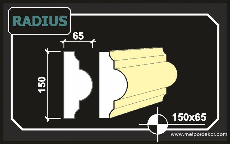 Radius Pencere Sövesi 15 cm x 6,5 cm