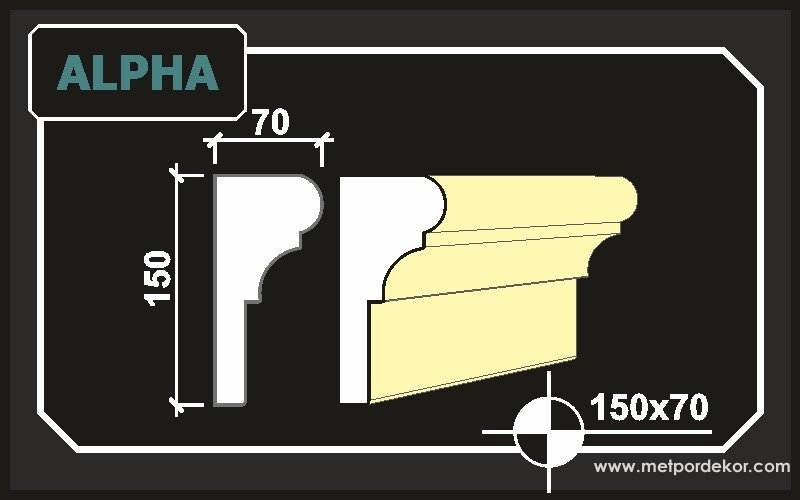Alpha Söve 15 cm x 7 cm Dış Cephe Pencere Söveleri