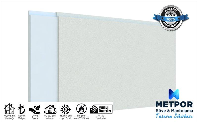 Düz Fugalı Mantolama Paneli, Düz Isı Yalıtım Levhası 4cm